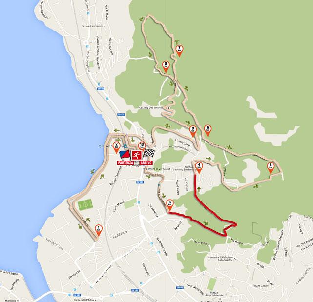 il 4° km del tracciato della corsa