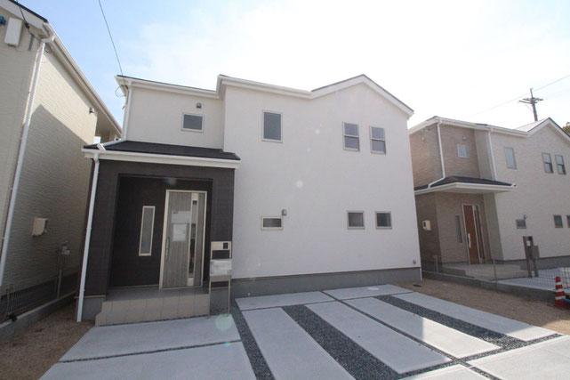 岡山県倉敷市広江の新築 一戸建て 分譲住宅の外観写真