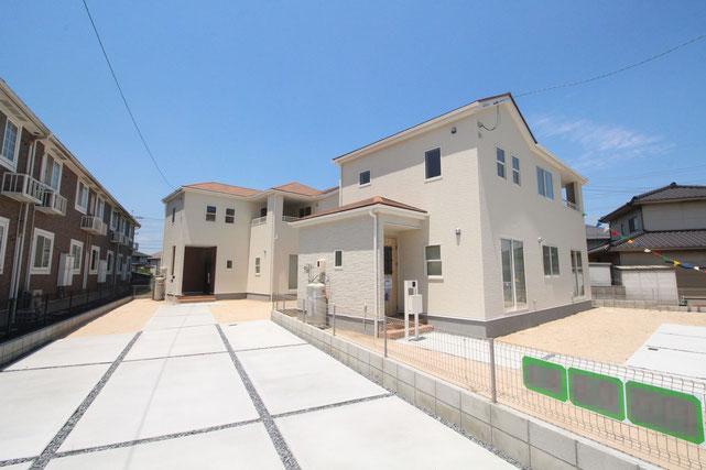岡山県倉敷市玉島黒崎新町の新築 一戸建て 分譲住宅の外観写真