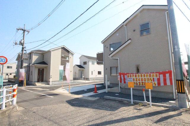 岡山県倉敷市水江の新築 一戸建て 分譲住宅の外観写真