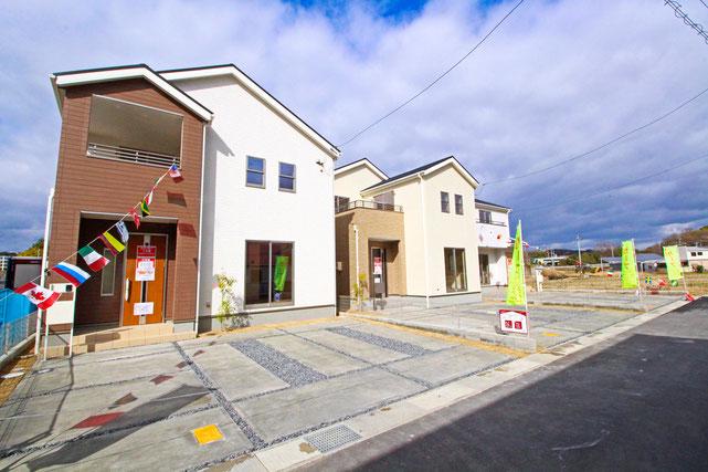 岡山県都窪郡早島町早島の新築 一戸建て 分譲住宅の外観写真