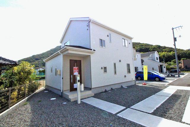 岡山市南区迫川の新築 一戸建て 分譲住宅の外観写真