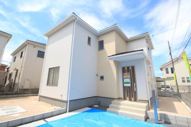 岡山市中区藤崎の新築 一戸建て 分譲住宅の外観写真