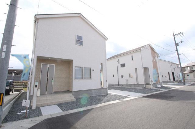 岡山県倉敷市福田町福田の新築 一戸建て 分譲住宅の外観写真