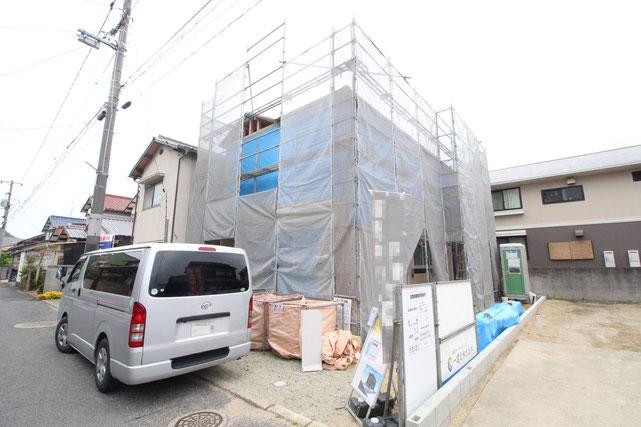 岡山県倉敷市児島田の口の新築 一戸建て 分譲住宅の外観写真