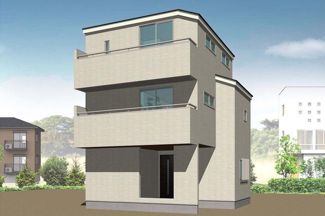 岡山県岡山市北区奉還町の新築 一戸建て 分譲住宅の外観写真