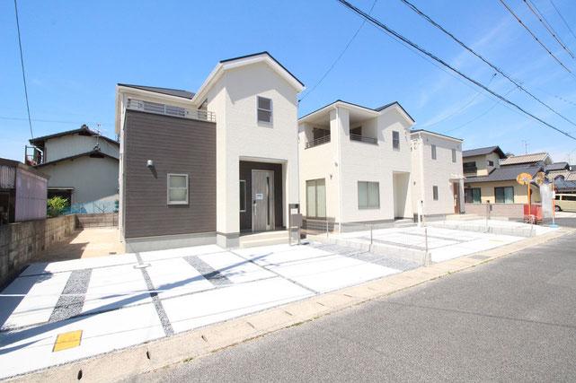 岡山県岡山市南区西高崎の新築 一戸建て 分譲住宅の外観写真