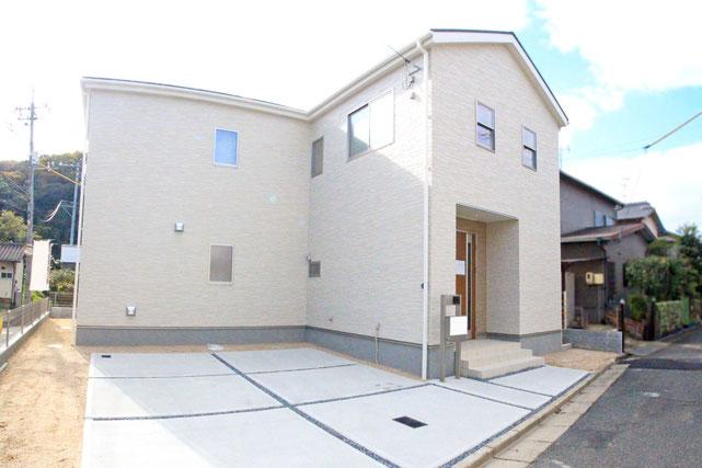 岡山県倉敷市笹沖の新築 一戸建て 分譲住宅の外観写真