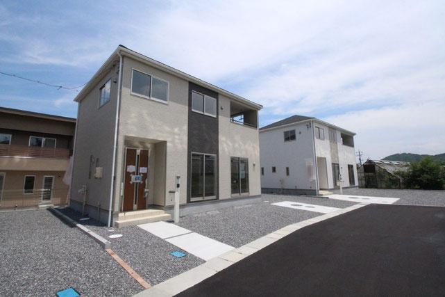 岡山県赤磐市河本の新築 一戸建て 分譲住宅の外観写真
