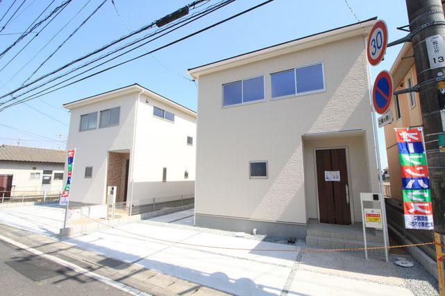 岡山市中区湊の新築 一戸建て 分譲住宅の外観写真