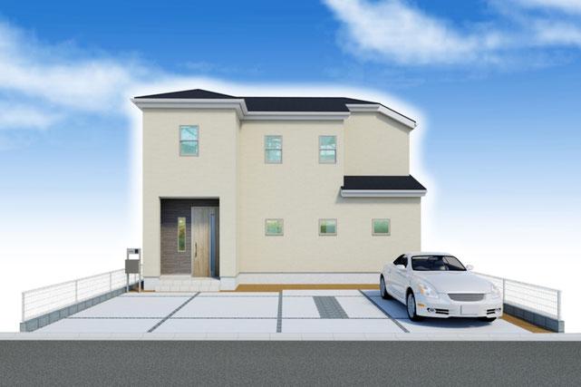 岡山県倉敷市児島味野2丁目の新築 一戸建て 分譲住宅の外観写真