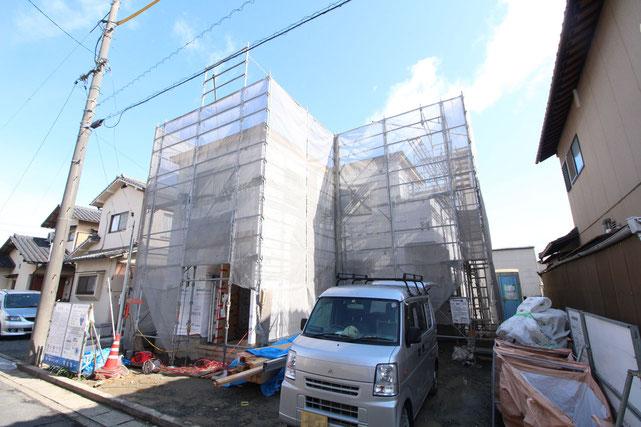 岡山県岡山市南区大福の新築 一戸建て 分譲住宅の外観写真