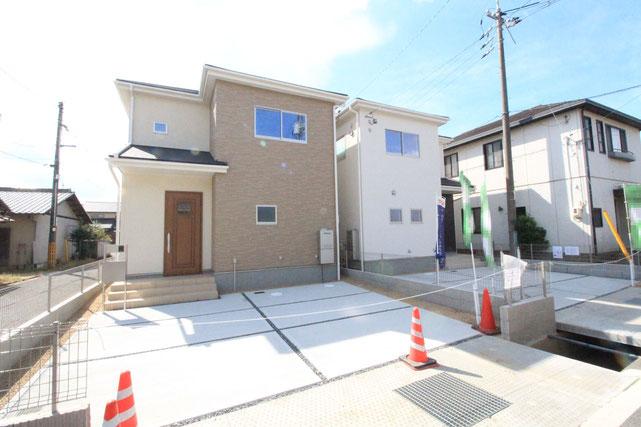岡山県倉敷市西中新田の新築 一戸建て 分譲住宅の外観写真