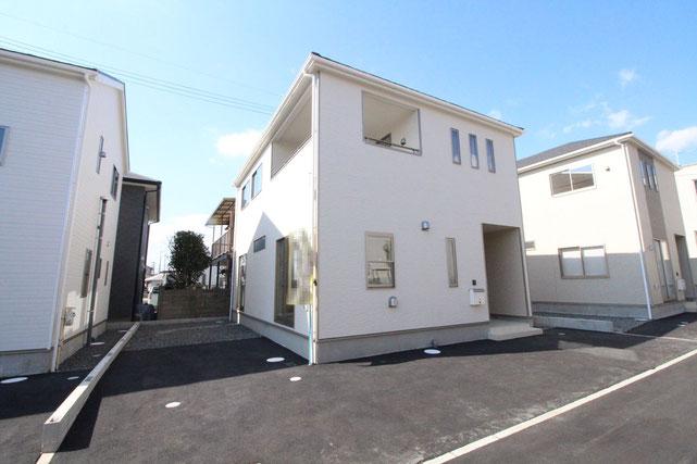 岡山県岡山市北区七日市東町の新築 一戸建て 分譲住宅の外観写真