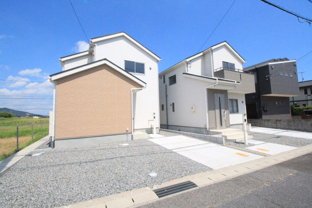 岡山市中区山崎の新築 一戸建て 分譲住宅の外観写真