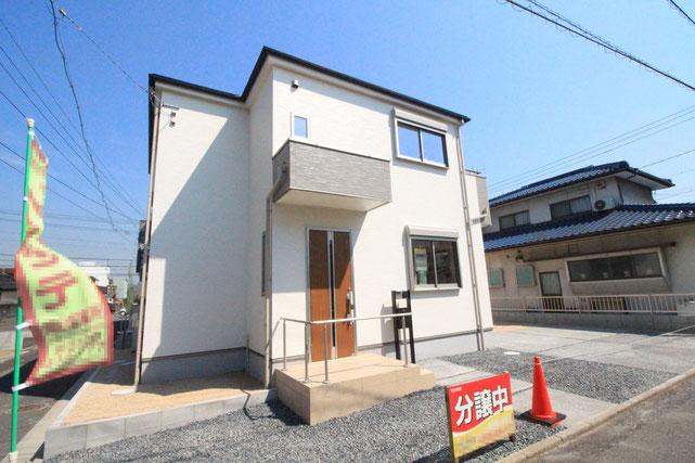 岡山県倉敷市水島北瑞穂町の新築 一戸建て 分譲住宅の外観写真