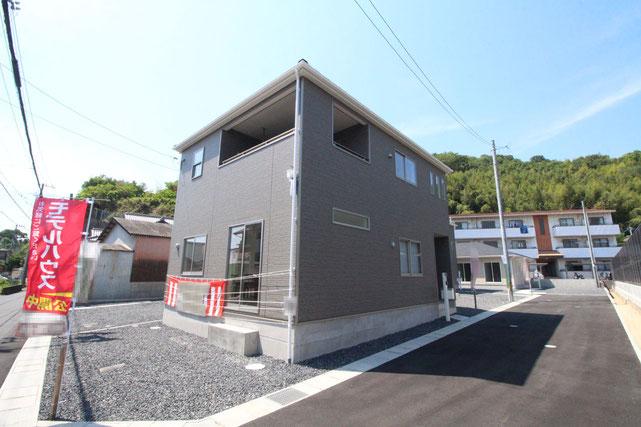 岡山県倉敷市連島町西之浦の新築 一戸建て 分譲住宅の外観写真