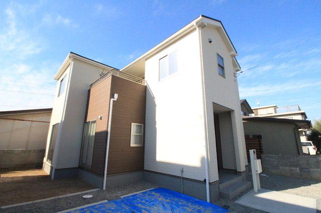 岡山市中区倉益の新築 一戸建て 分譲住宅の外観写真
