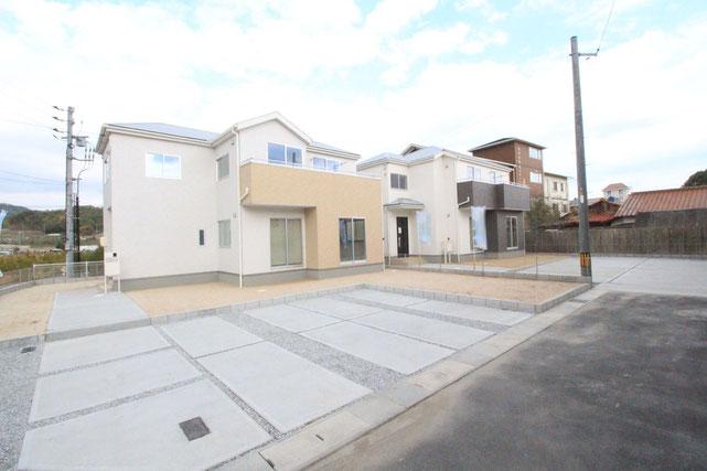 岡山県玉野市山田の新築 一戸建て 分譲住宅の外観写真