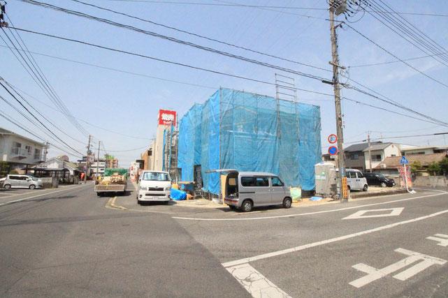 岡山県岡山市南区若葉町の新築 一戸建て 分譲住宅の外観写真