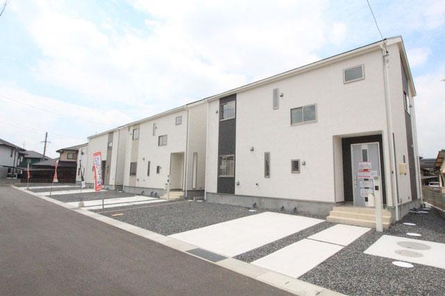 岡山県岡山市北区小山の新築 一戸建て 分譲住宅の外観写真