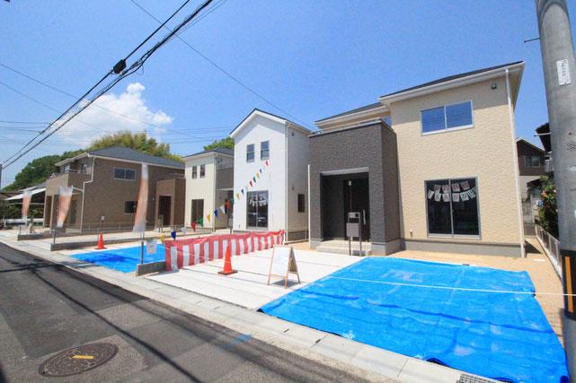 岡山県倉敷市八島の新築 一戸建て 分譲住宅の外観写真