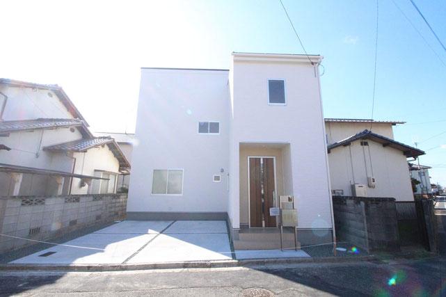 岡山県倉敷市川入の新築 一戸建て 分譲住宅の外観写真