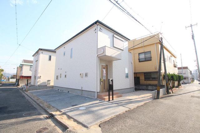岡山県倉敷市水島南緑町の新築 一戸建て 分譲住宅の外観写真