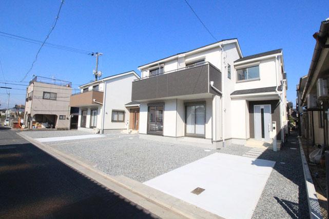 岡山県倉敷市水島南春日町の新築 一戸建て 分譲住宅の外観写真