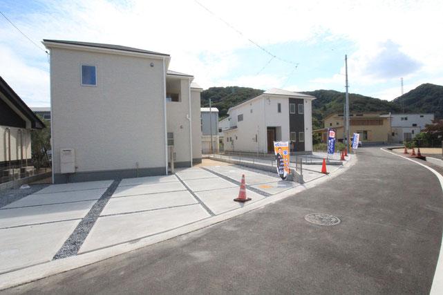 岡山県岡山市南区迫川の新築 一戸建て 分譲住宅の外観写真
