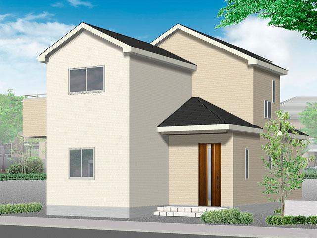 岡山県岡山市南区福富西の新築 一戸建て 分譲住宅の外観写真