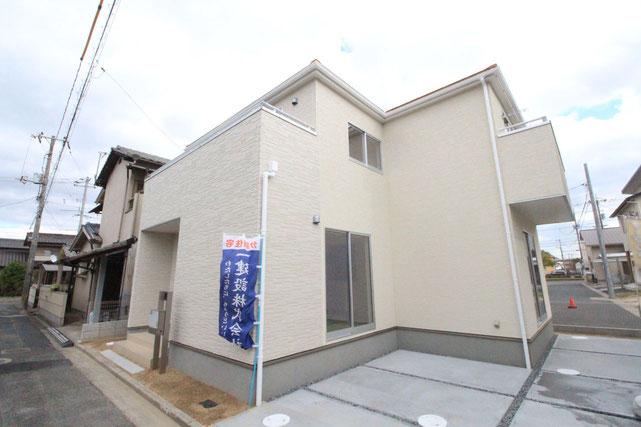 岡山県倉敷市連島中央の新築 一戸建て 分譲住宅の外観写真