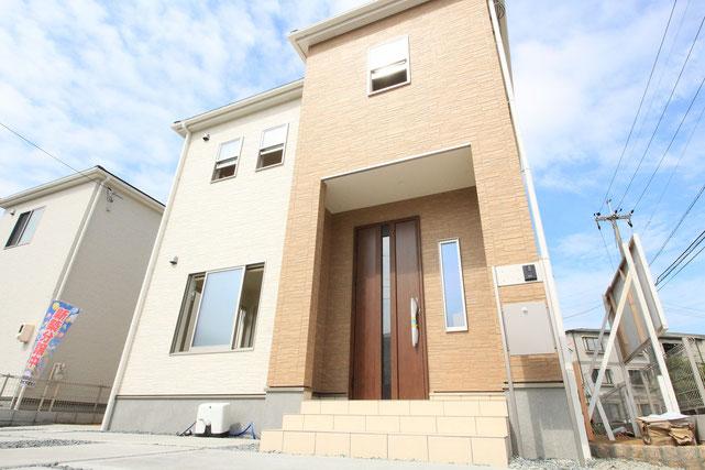 岡山市中区中島の新築 一戸建て 分譲住宅の外観写真