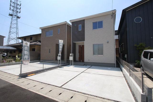 岡山県岡山市北区今2丁目の新築 一戸建て 分譲住宅の外観写真
