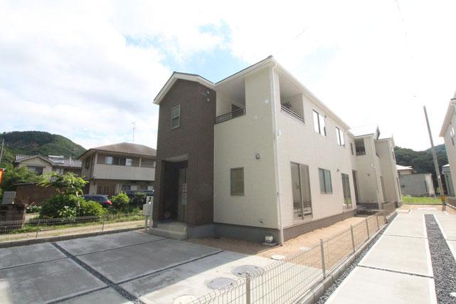 岡山県岡山市北区牟佐の新築 一戸建て 分譲住宅の外観写真