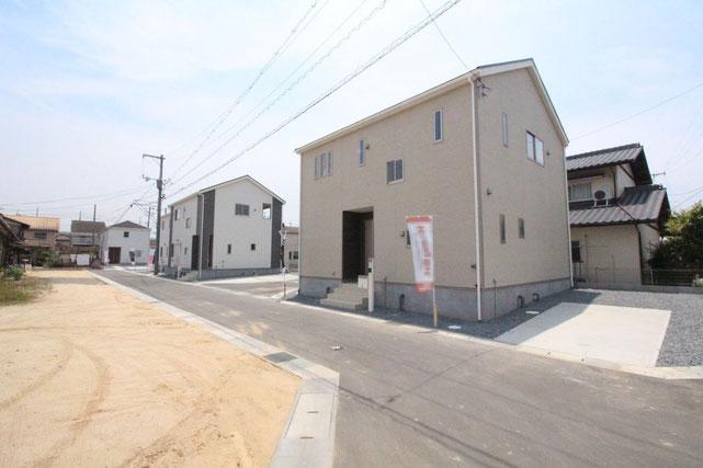 岡山県倉敷市船穂町船穂の新築 一戸建て 分譲住宅の外観写真