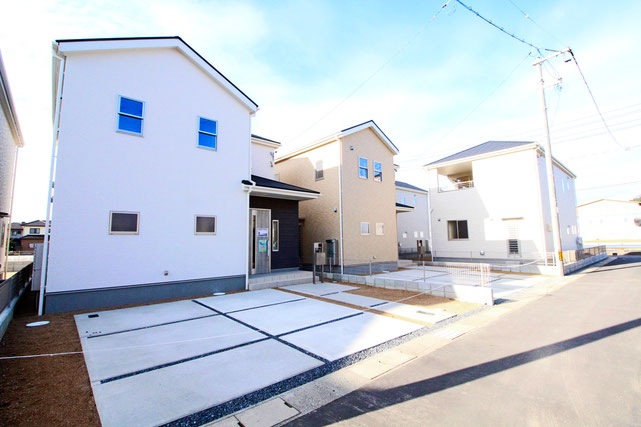 岡山県倉敷市福田町浦田の新築 一戸建て 分譲住宅の外観写真