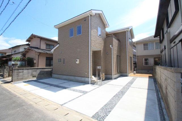 岡山市中区東川原の新築 一戸建て 分譲住宅の外観写真