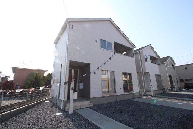 岡山県岡山市中区関の新築 一戸建て 分譲住宅の外観写真