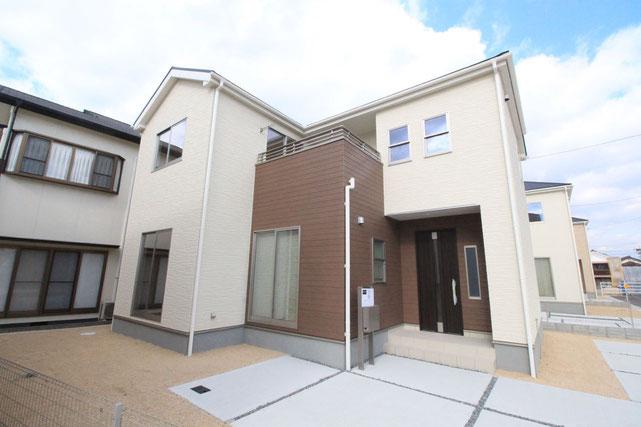 岡山県倉敷市玉島上成の新築 一戸建て 分譲住宅の外観写真