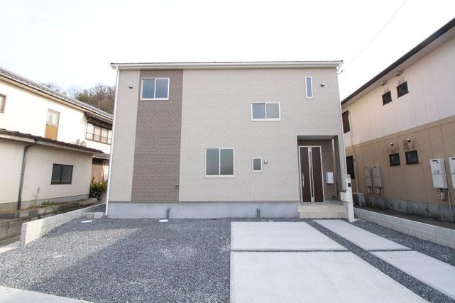 岡山県倉敷市玉島の新築 一戸建て 分譲住宅の外観写真
