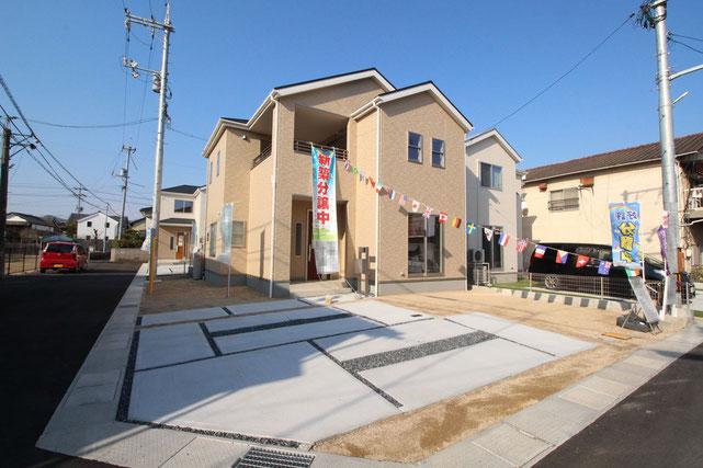 岡山県総社市総社2丁目の新築 一戸建て 分譲住宅の外観写真