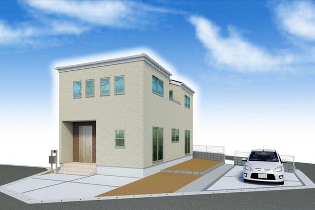 岡山県倉敷市児島赤崎1丁目の新築 一戸建て 分譲住宅の外観写真