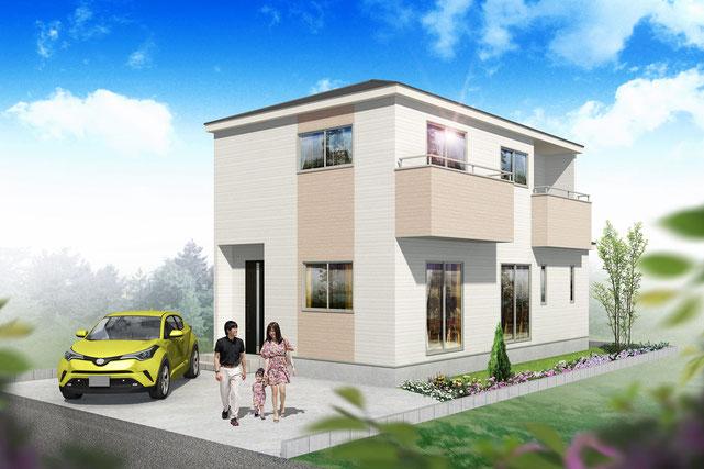 岡山県岡山市南区福島1丁目の新築 一戸建て 分譲住宅の外観写真