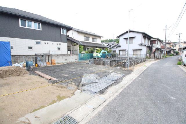 岡山県倉敷市羽島の新築 一戸建て 分譲住宅の外観写真