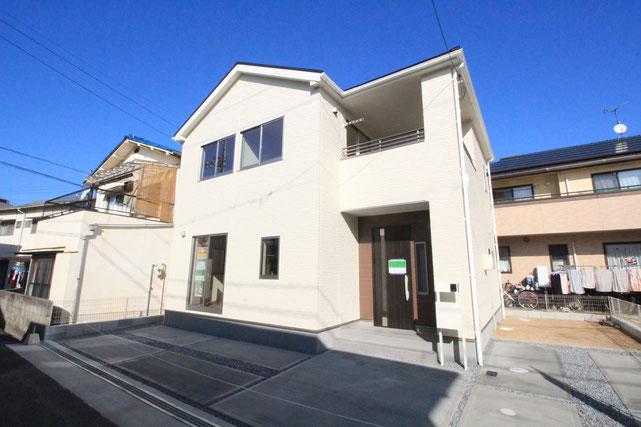 岡山市南区若葉町の新築 一戸建て 分譲住宅の外観写真