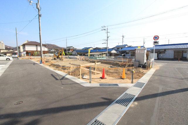 岡山県岡山市北区原の新築 一戸建て 分譲住宅の外観写真