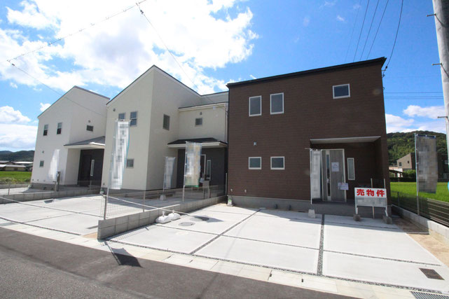 岡山県倉敷市粒江の新築 一戸建て 分譲住宅の外観写真