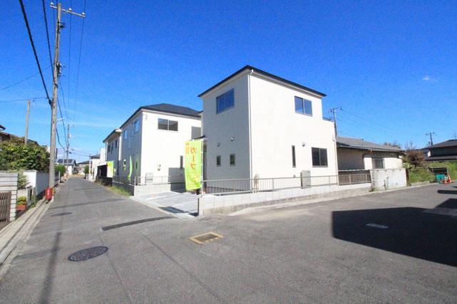 岡山県岡山市中区平井の新築 一戸建て 分譲住宅の外観写真