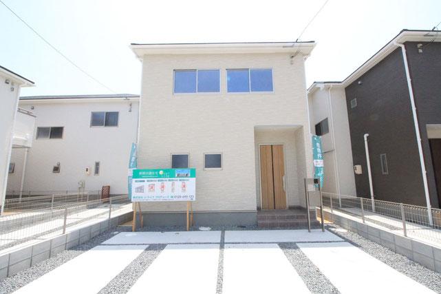 岡山市南区福島の新築 一戸建て 分譲住宅の外観写真